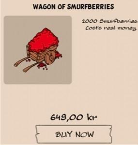 En vognfuld smølfebær til 649 kr. i Smurf's Village