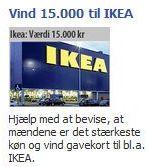 Typisk eksempel på en Facebook-reklame