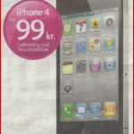 Køb den nye iPhone 4 hos Telia for kun 99 kr.