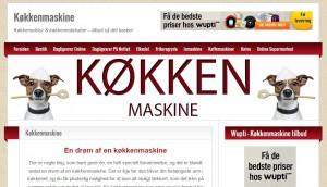 Hjemmesiden køkkenmaskine.tv