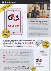 Reklame for Securitas privatalarmen